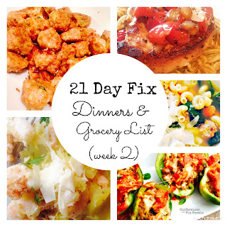 Dinner Plan and Grocery List (week 2).