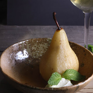 White Wine Poached Pears with Lemon Mascarpone