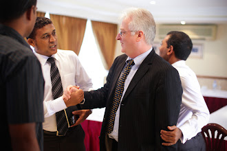 Photo: Meeting with the EU delegation at Mookai Hotel. Photo/Mauroof Khaleel