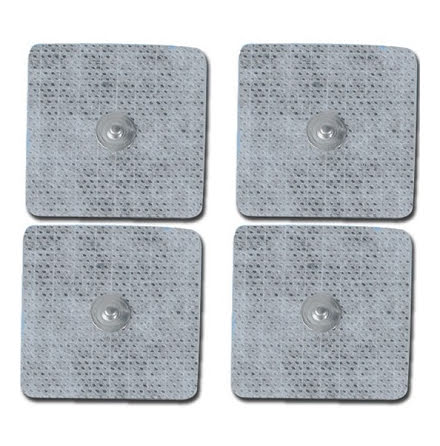4st Elektroder med tryckknapp 46x47mm