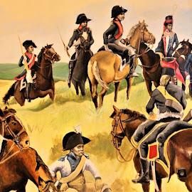 Slag om Waterloo. by Anja Kroes - Painting All Painting