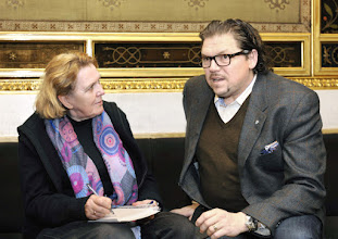 Photo: Interview mit Michael Schade am 10.3.2016 im Teesalon der Wiener Staatsoper (Interviewer: Dr. Renate Wagner). Copyright: Barbara Zeininger