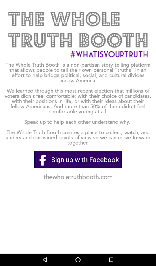 The Whole Truth Booth- screenshot