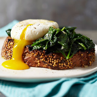 Ted Allen'S Poached Eggs with Grilled Bread Recipe