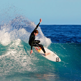Spring Spray by Julie Steele - Sports & Fitness Surfing ( spray, steele, wave, surf )
