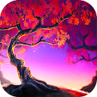 Woody Land :  Tree live wallpaper Parallax 3D free icon