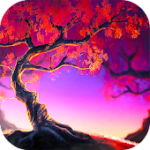 Woody Land :  Tree live wallpaper Parallax 3D free
