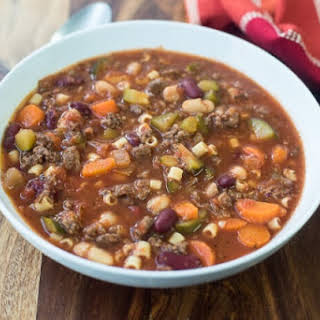 Slow Cooker Hamburger Minestrone.