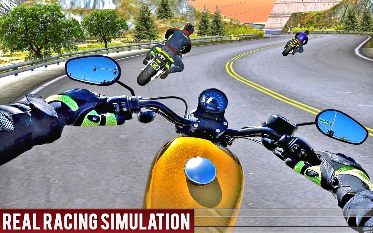 New top speed bike racing motor bike free games android for Play motor racing games