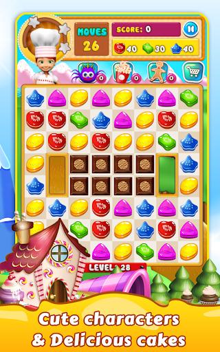 Cookie Star: Sugar cake puzzle match-3 game apktram screenshots 3