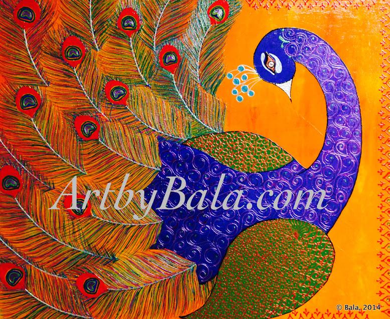 Henna style acrylic animal paintings