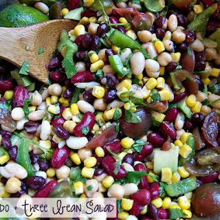 Avocado and Three Bean Salad.