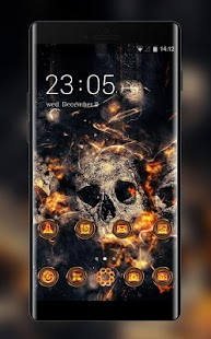Theme for Vivo V5/V5 plus: Fire Skull HD Wallpaper - náhled