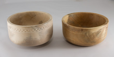 "Photo: Margaret Follas 6"" x 3"" bowls [holly] {duplicate challenge}"