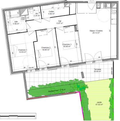 Vente appartement 4 pièces 82,43 m2