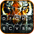 Cracked Tiger Screen Keyboard Background icon