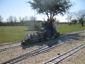 Photo: Doug and Patty Gillory on their 2-6-0.   HALS 2009-0228