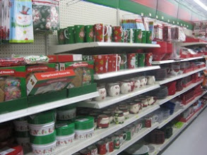 Photo: Ahh... we've hit the red & green aisles! Must mean Christmas!
