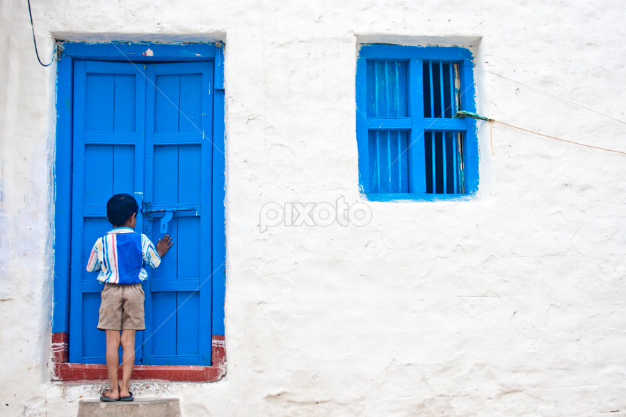 Open the Door by Sandeep  Kumar - City,  Street & Park  Street Scenes ( 5d mark ii, rights reserved, hampi, © sk.fotography, rebel, sandeep india karnataka, all )