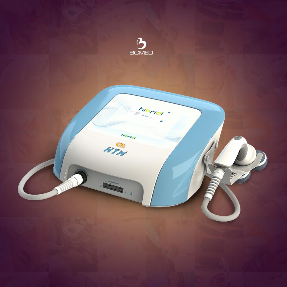 O Hibridi da HTM é um aparelho de ultrassom de alta potência e correntes terapêuticas