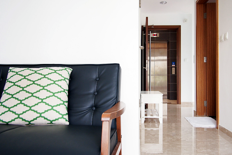 Living room at Balestier apartment