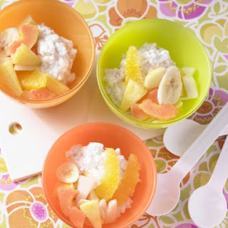 Coconut Rice Pudding with Fruit Salad