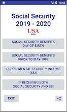 Social Security Benefit Payments 2019-2020 screenshot thumbnail