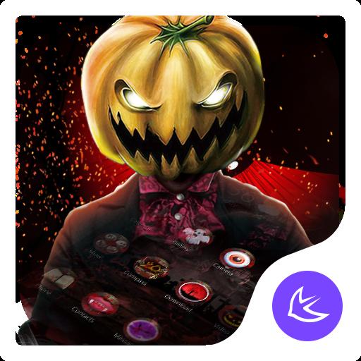 Red Scary Pumpkin Halloween theme