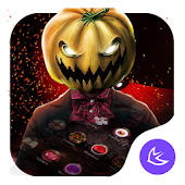Red Scary Pumpkin Halloween theme🎃