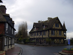Photo: Another example of the fine half-timbered architecture of the region.