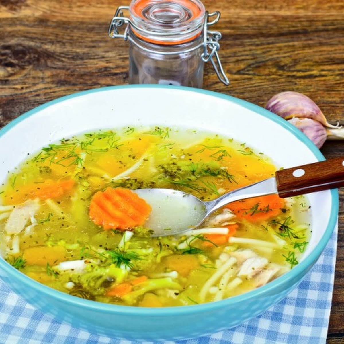 Yugoslavian Chicken Soup  later than Noodles