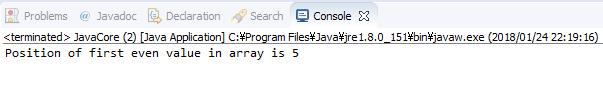 Java - Tìm vị trí của phần tử chẵn đầu tiên trong mảng số nguyên