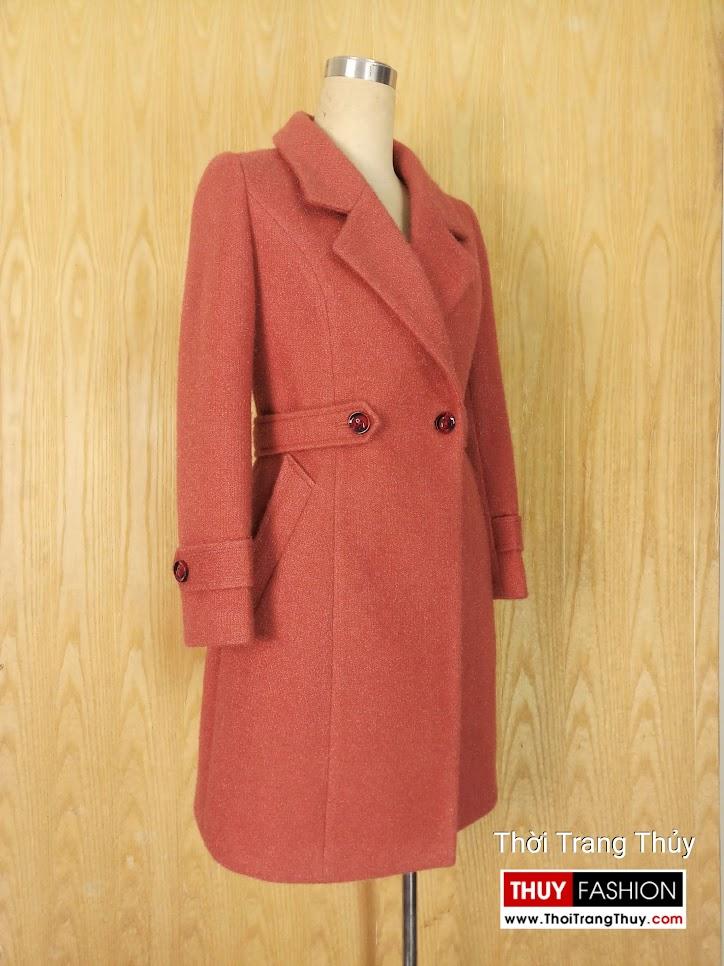 Áo khoác dạ nữ dáng dài V655 Thời Trang Thủy