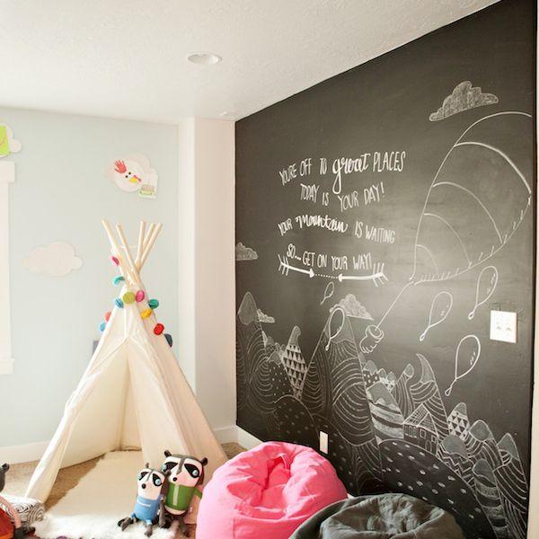 Make a Chalkboard Paint Wall Boys Bedroom Painting Ideas