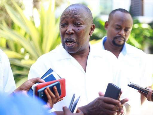 Chairman of Parliament's National Cohesion and Equal Opportunity Committee Maina Kamanda.