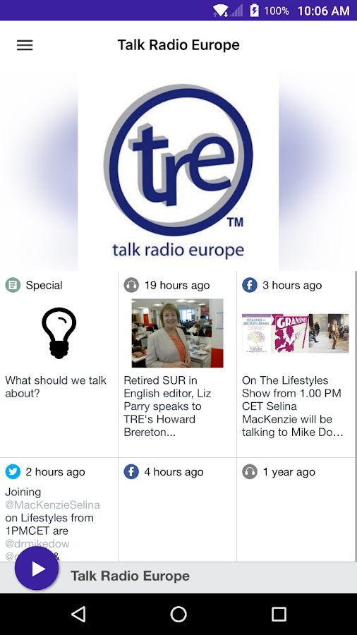 Talk Radio Europe- screenshot