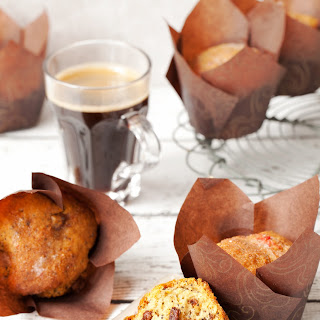 Blood Orange Drizzle Muffins with Chocolate Chips.