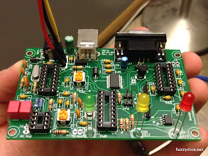 Photo: Components soldered to the board
