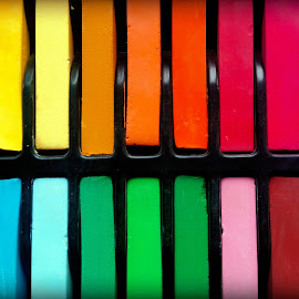 Colored pastels by Ruxandra Proksch - Abstract Patterns ( abstract, pastels, pastel, colorful, color, colors, colored pencils, rainbow )