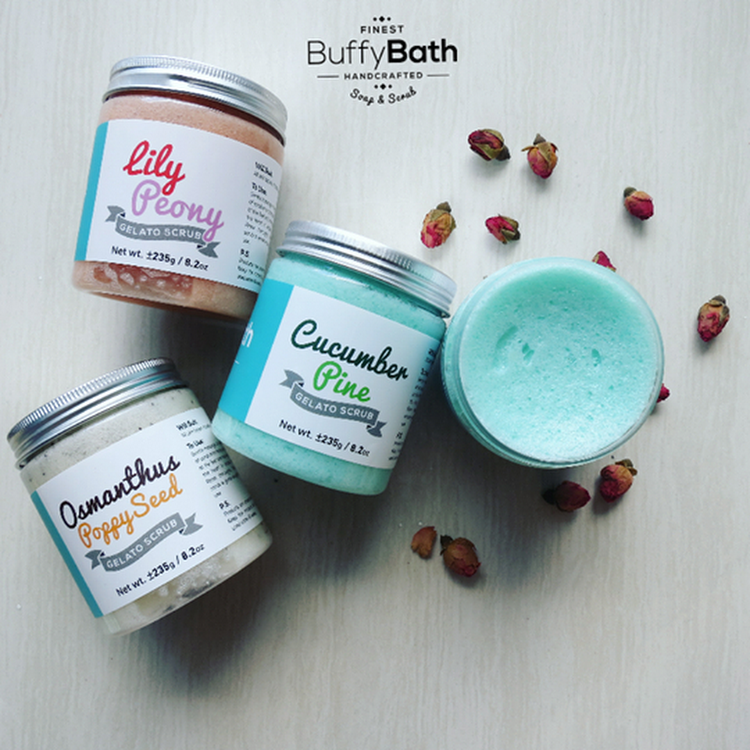 Cucumber Pine Gelato Scrub by BUFFY BATH ENTERPRISE