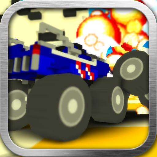 Blocky Monster Truck Smash 賽車遊戲 App LOGO-硬是要APP