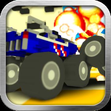 Blocky Monster Truck Demolition Derby