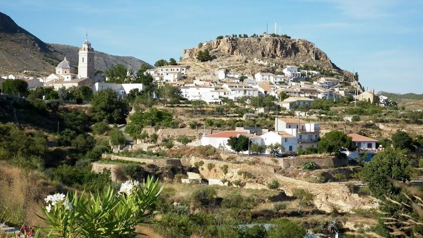 Vista panorámica del municipio de Oria.