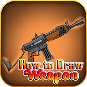 How to draw weapons step by step, drawing tutorial