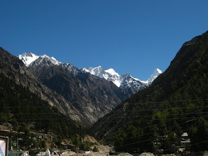 Photo: himalaya from Gangotri(on a nice blue morning).