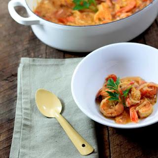 Tomato And Tiger Shrimp Soup