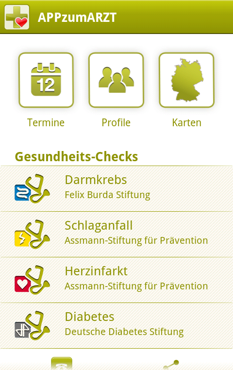 APPzumARZT- screenshot