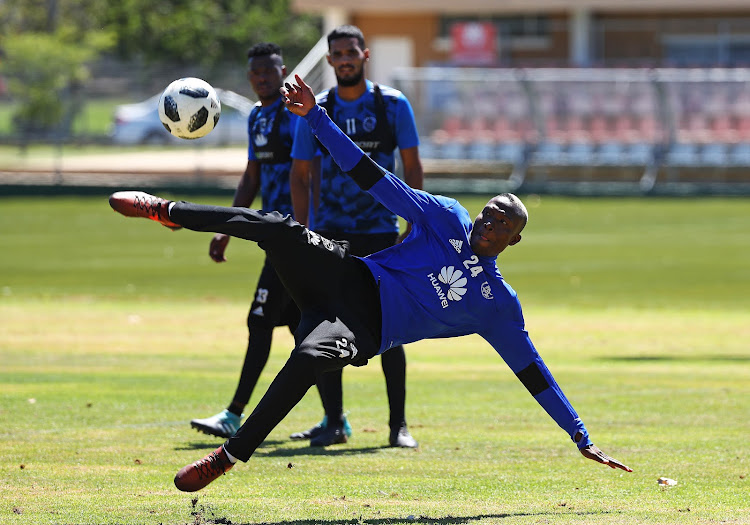 Ajax Cape Town striker Tendai Ndoro during a training session at Ikamva, Cape Town on 24 January 2018.