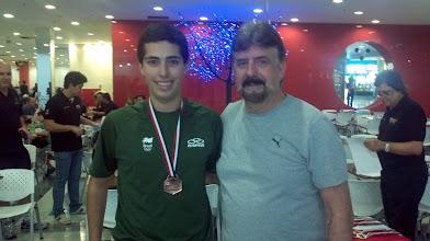 Photo: Bruno Costa (4.º no All Events 2.ª divisão masculina,média 193,95) com Décio Abreu