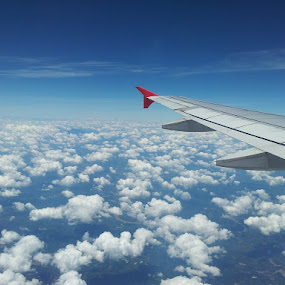 Blue Sky and A Lonely Plane by Hafizi Ahmad - Instagram & Mobile Android